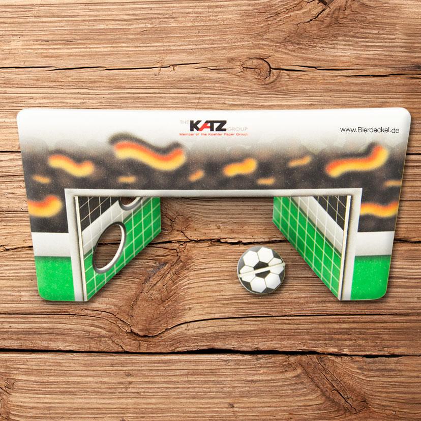 Football beer mat